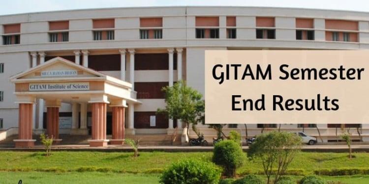 GITAM Results 2019 (Released) – Semester Examination Results – AglaSem