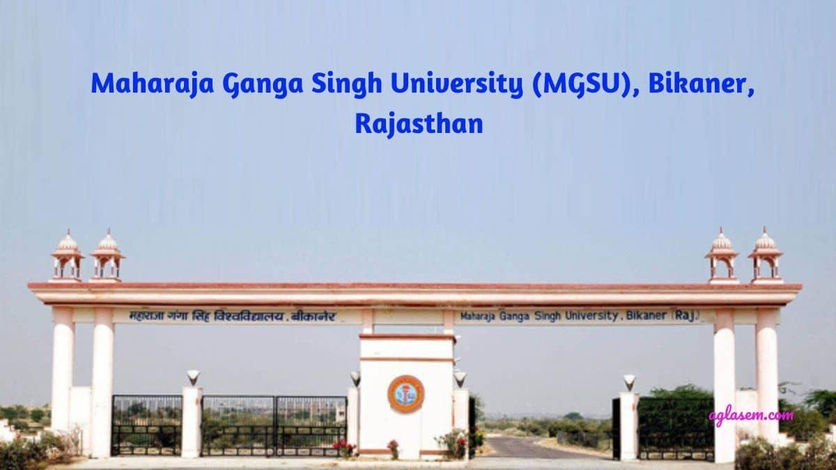 MGSU - MAHARAJA GANGA SINGH UNIVERSITY