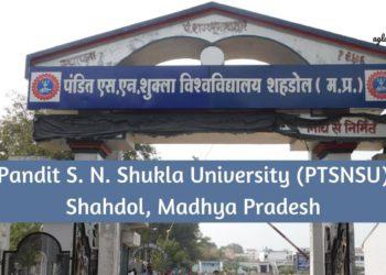 Pandit S. N. Shukla University Shahdol (PTSNS)