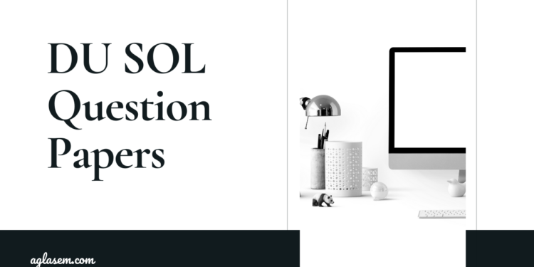 DU SOL Question Papers BA (Hons.) Political Science Programme 1st Year
